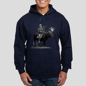 Teddy Roosevelt on Bullmoose Hoodie