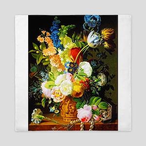 Classic Floral Bouquet Queen Duvet