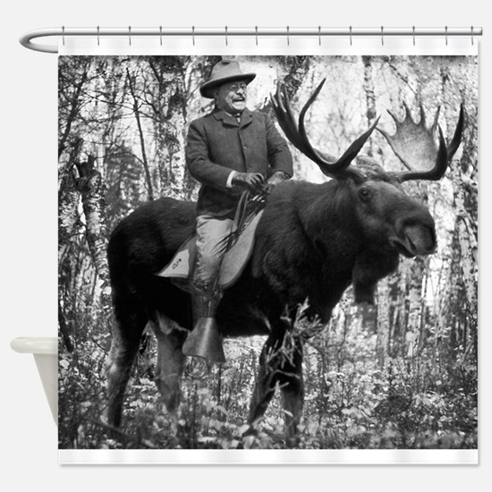 Teddy Roosevelt On Bullmoose Shower Curtain