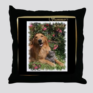 Summer's Gold Collection Throw Pillow
