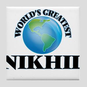 World's Greatest Nikhil Tile Coaster