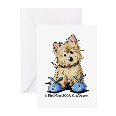 Blue Bunny Cairn Greeting Cards (Pk of 10)