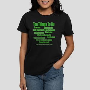 """Being Green""  Women's Dark T-Shirt"