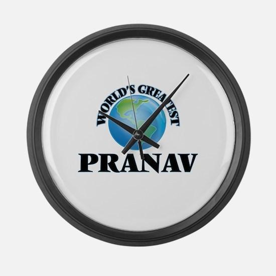 World's Greatest Pranav Large Wall Clock