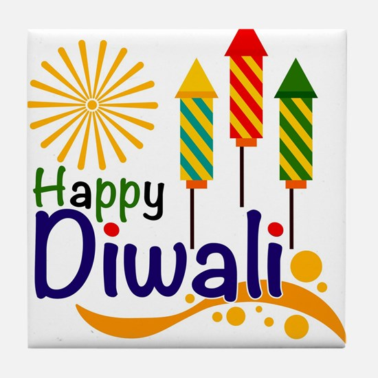 Diwali Tile Coaster