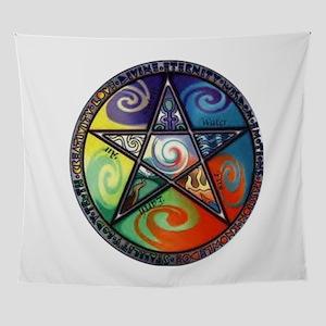 Wiccan Pentagram Wall Tapestry