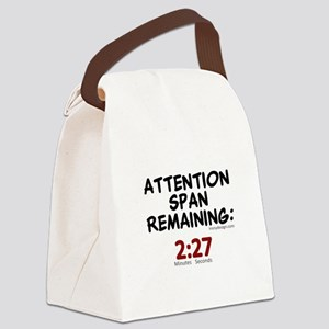 Short Attention Span Humor Saying Canvas Lunch Bag