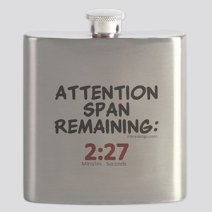 Short Attention Span Humor Saying Flask