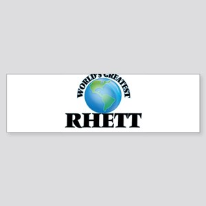 World's Greatest Rhett Bumper Sticker
