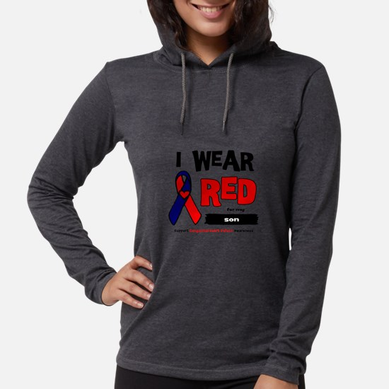 I wear red for my son Long Sleeve T-Shirt