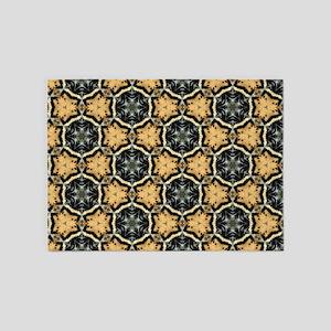 Chic Abstract Animal Print 5'x7'Area Rug