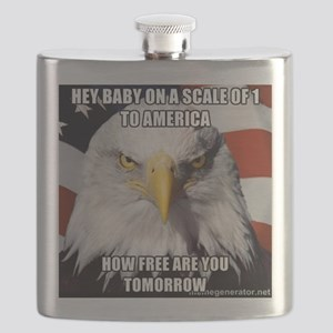 Funny joke with Eagle Flask