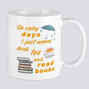 Rainy Days Tea Books Mugs