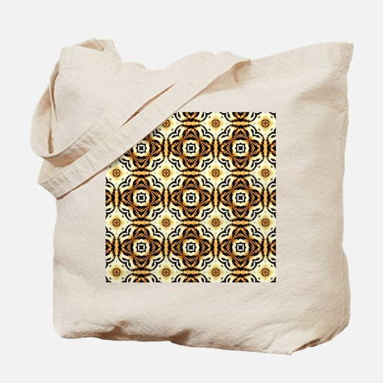 Chic Abstract Animal Print Tote Bag