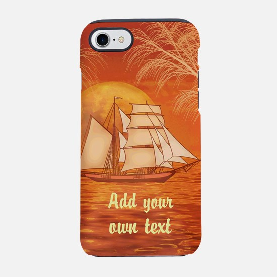 Personalized Sailboat iPhone 7 Tough Case