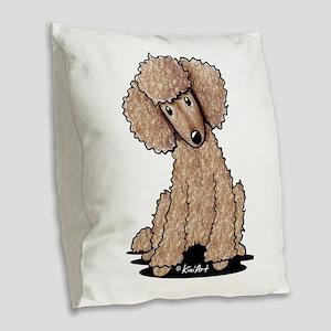 Sweet Chocolate Burlap Throw Pillow