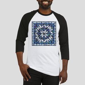 blue onion quilt Baseball Jersey