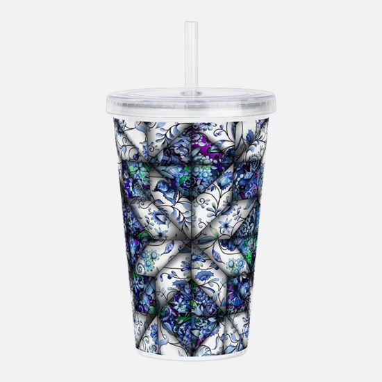 blue onion quilt Acrylic Double-wall Tumbler