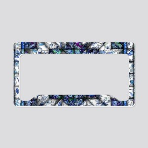 blue onion quilt License Plate Holder