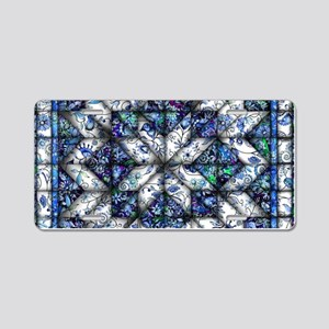 blue onion quilt Aluminum License Plate