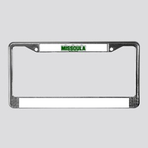 Missoula, Montana License Plate Frame