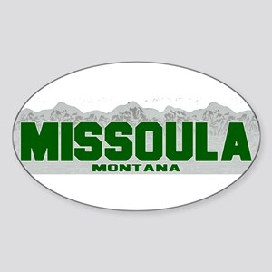 Missoula, Montana Oval Sticker