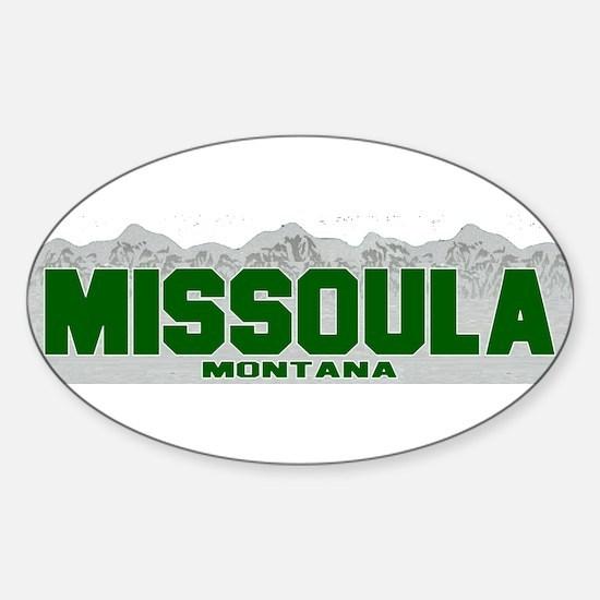 Missoula, Montana Oval Decal