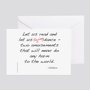 Voltaire On Swing Greeting Cards (Pk of 10)