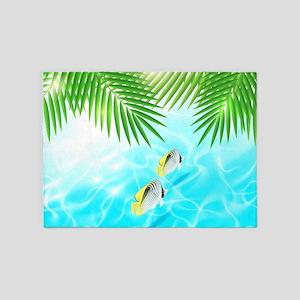 Tropical Ocean 5'x7'Area Rug