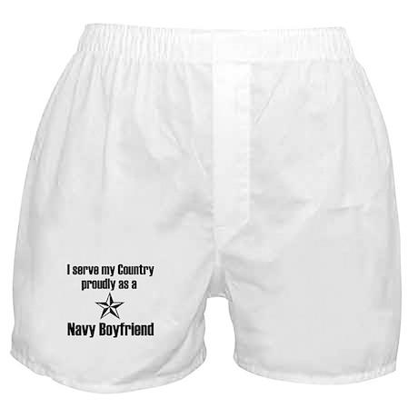 Navy Boyfriend Proudly Servin Boxer Shorts