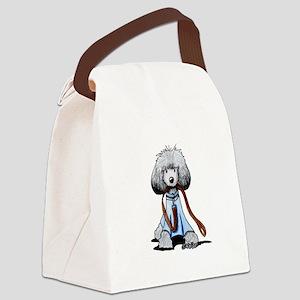 Emmylou Poodle Canvas Lunch Bag