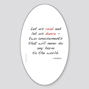 Voltaire On Dance Oval Sticker