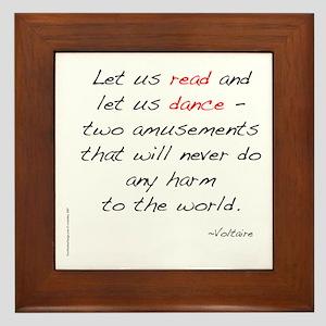 Voltaire On Dance Framed Tile