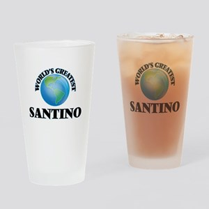 World's Greatest Santino Drinking Glass