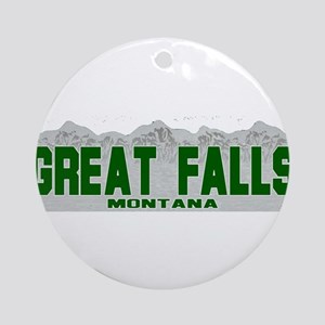 Great Falls, Montana Ornament (Round)