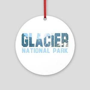 Glacier National Park Ornament (Round)