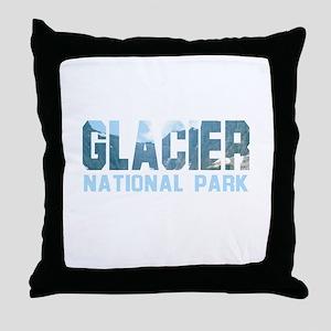 Glacier National Park Throw Pillow