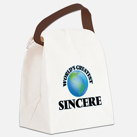 World's Greatest Sincere Canvas Lunch Bag