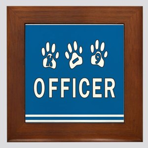 K-9 Police Framed Tile