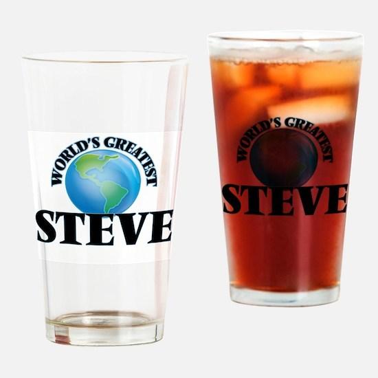 World's Greatest Steve Drinking Glass