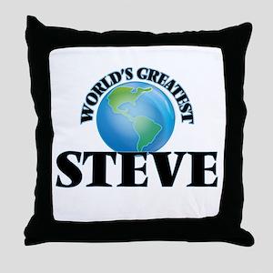 World's Greatest Steve Throw Pillow