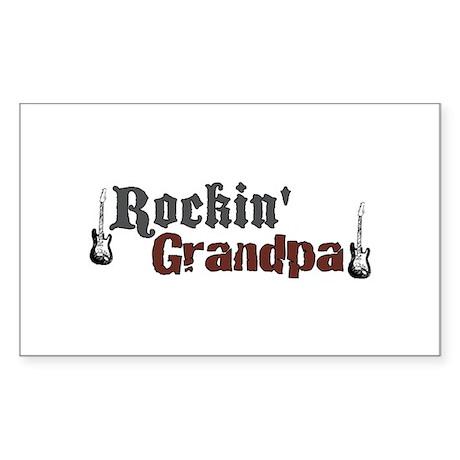 Rockin Grandpa Rectangle Sticker