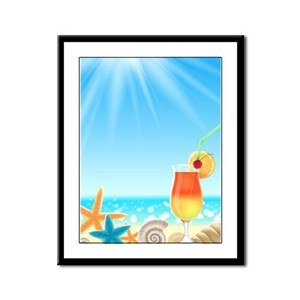 Beach Vacation Framed Panel Print