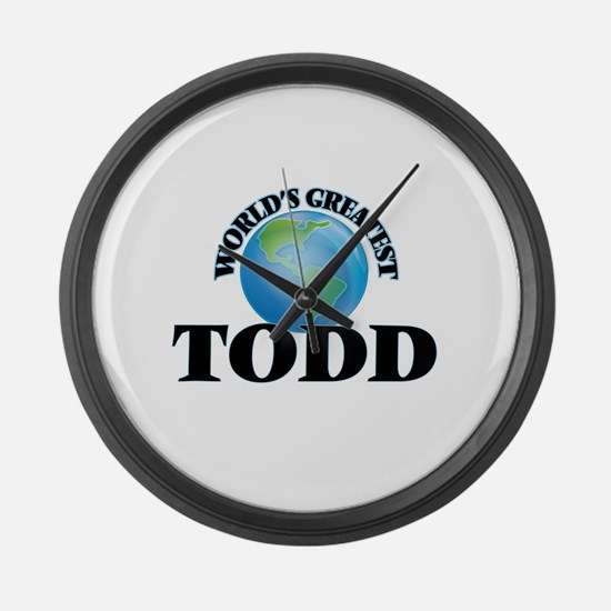 World's Greatest Todd Large Wall Clock