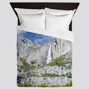 Two Beautiful Waterfalls Queen Duvet