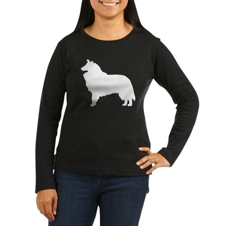 Collie Dog Breed Women's Long Sleeve Dark T-Shirt