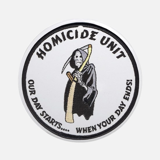 Homicide Unit Ornament (Round)