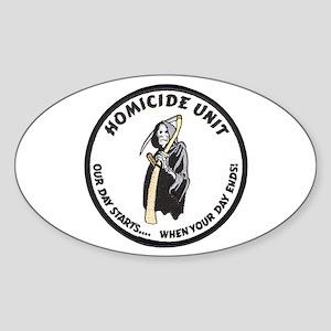 Homicide Unit Oval Sticker