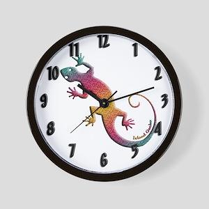 Island Gecko Wall Clock