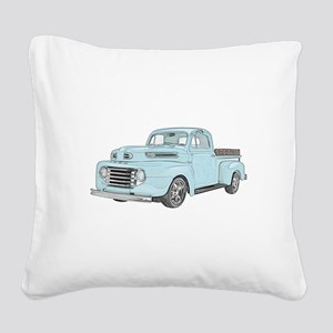 1950 Ford F1 Square Canvas Pillow
